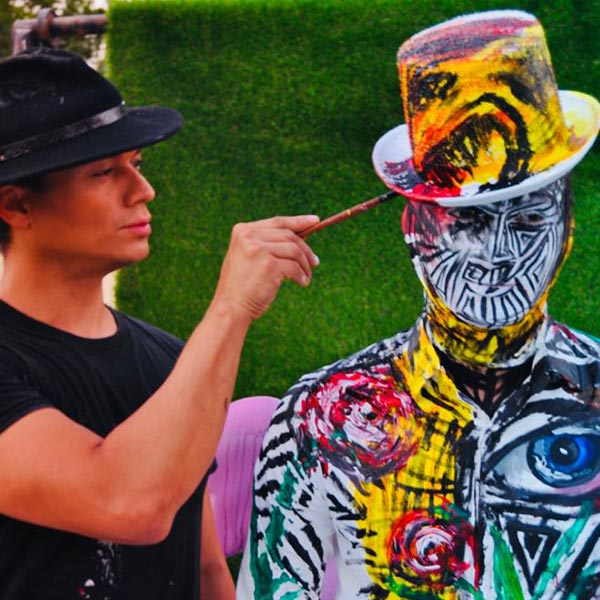 Human Canvas Painting Artists for Hire